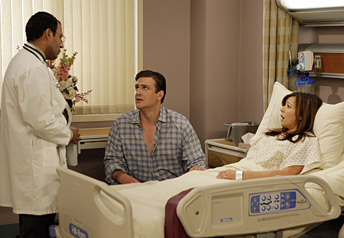 Marshall and Lily head to the hospital — I'm still thinking it has something to do with a possible pregnancy for them.