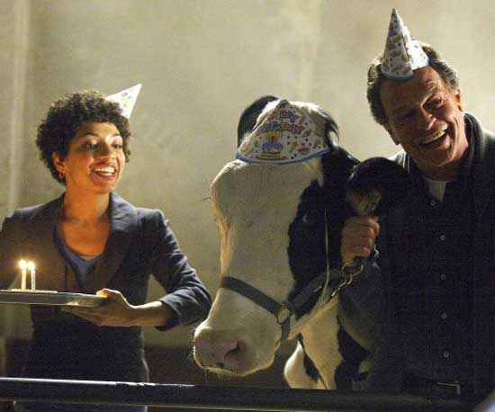 Looks like Walter and Astrid throw someone a birthday party. Maybe it's for Gene, their resident cow?