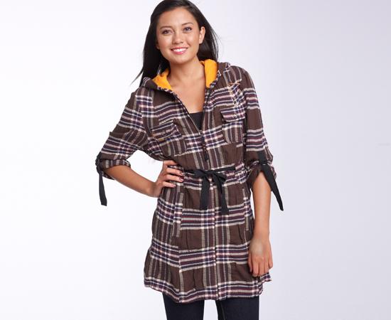 Plaid Hooded Jacket, $52