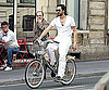 Photo Slide of Adrien Brody Biking Around Paris