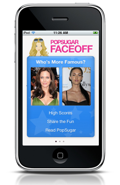 Introducing Our Celebrity Faceoff For Your iPhone!