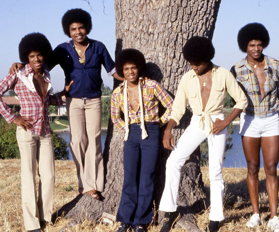 Michael, Tito, Jermaine, Marlon, and Jackie Jackson made up The Jackson 5. They posed together at their family home in LA in 1978.