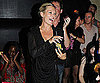 Photo Slide of Kate Moss Signing Karaoke in London