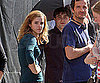 Photo Slide of Emma Watson and Daniel Radcliffe Filming Harry Potter in London