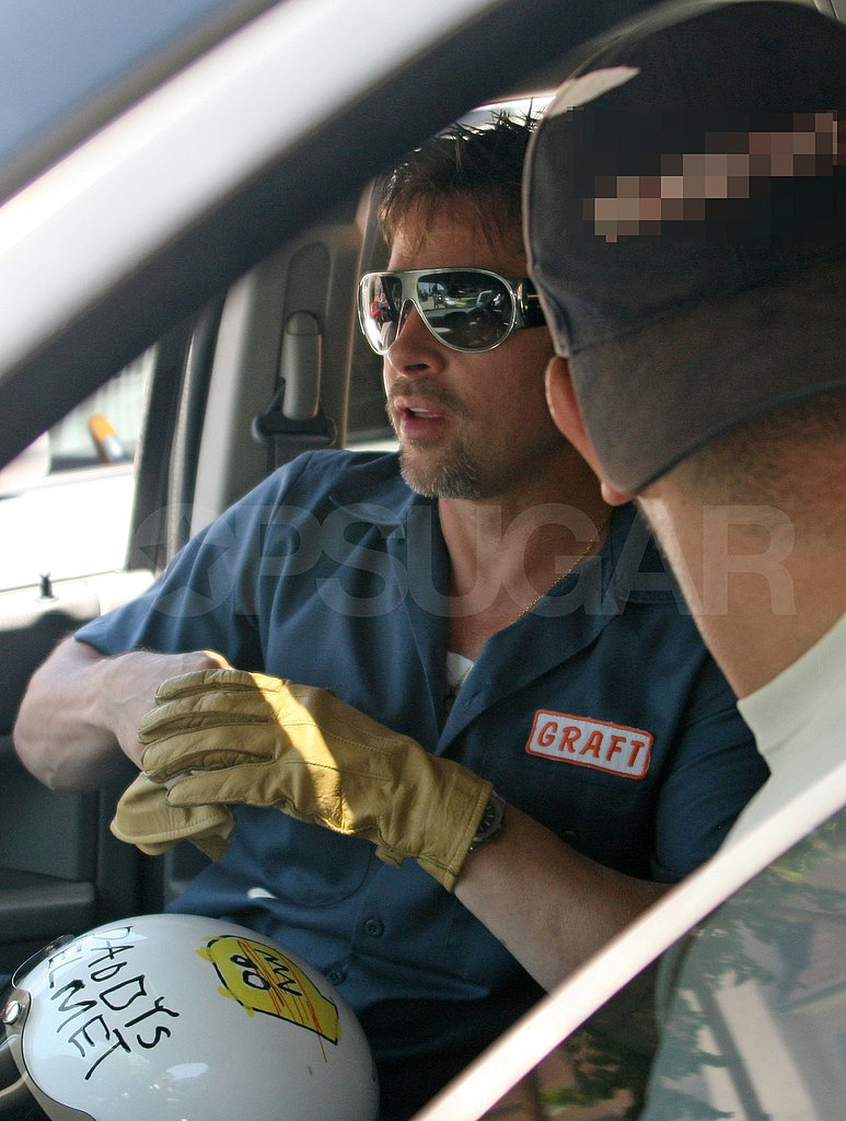 Photos of Brad Pitt on His Bike in LA