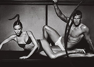 David Beckham and Victoria Beckham For New Armani Underwear Ads