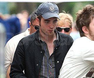 Slide Photo of Robert Pattinson on the Set of Remember Me Wearing a Baseball Cap