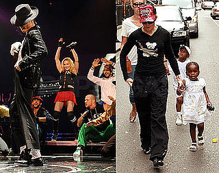 Photos and Video of Madonna's Tribute to Michael Jackson in London, Photos of Mercy, David, Rocco, Jesus