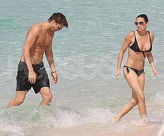 Photo Slide of Demi Moore in a Bikini and Ashton Kutcher Shirtless in the Caribbean