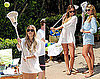 Photos of Lauren Conrad and Lo Bosworth Playing Lacrosse at the Sierra Mist Beach House