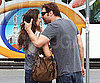 Photo Slide of Penelope Cruz and Javier Bardem Kissing in Barcelona