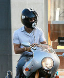 Photos of Ryan Reynolds Riding His Motorcycle