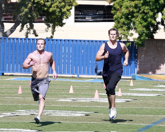 Photos of Tom Brady Training