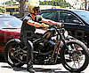 Photo Slide of Brad Pitt on his Motorcycle in LA
