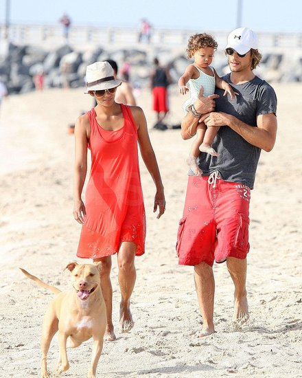 Photos of Halle, Gabriel and Nahla in Miami