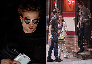 Photos of Robert Pattinson Filming Remember Me in NYC With His Stunt Double