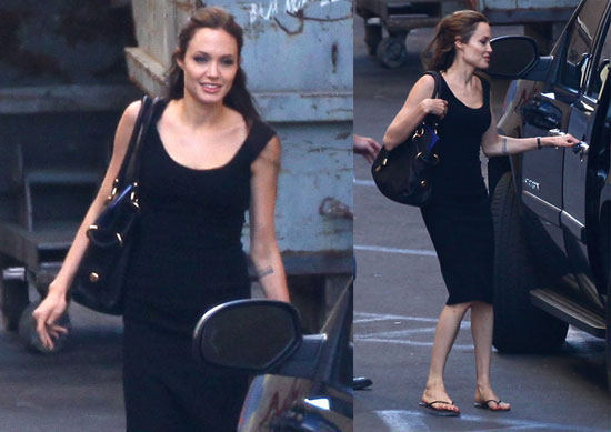 Photos of Angelina Jolie Leaving a Weekend Photo Shoot