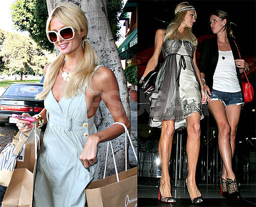 Photos of Paris and Nicky Hilton Getting Dinner and Shopping in LA
