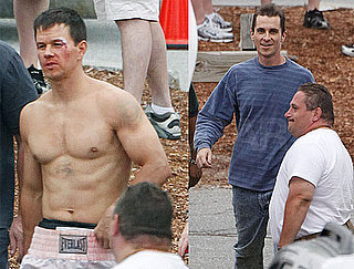 Photos of Shirtless Mark Wahlberg and Skinny Christian Bale on the set of The Fighter