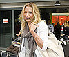 Slide Photo of Cameron Diaz Wearing Black Boots at Heathrow