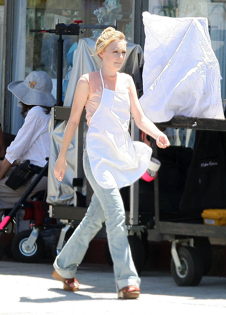 Photos of Dakota Fanning on Set