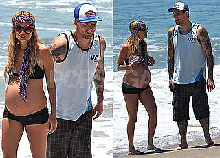 Photos of Pregnant Nicole Richie in a Bikini at the Beach with Joel Madden