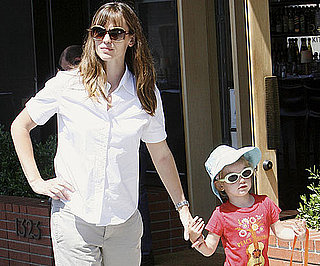 Slide Photo of Jennifer Garner and Violet Affleck Shopping in Brentwood Wearing Sunglasses