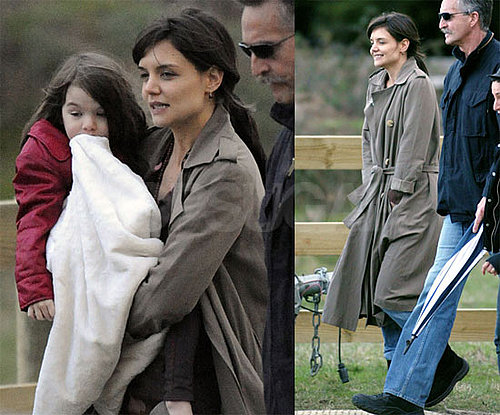 Photos of Katie Holmes and Suri Cruise on Don't Be Afraid of the Dark Set in Australia