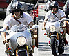 Photos of Ryan Reynolds Showing His Muscle on Motorcycle in LA