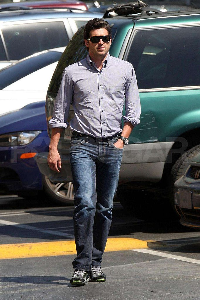 Photos of Patrick Dempsey on the Set of Valentine's Day