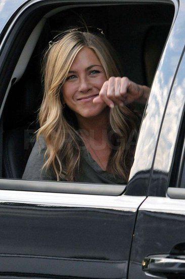 Photos of Jennifer Aniston in a Car