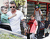 Photos of David Beckham After Getting Matching Haircuts With Cruz, Romeo, Brooklyn