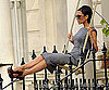 Photo Slide of Victoria Beckham on a Swing in London