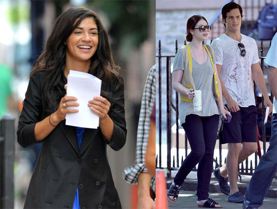 Photos of Gossip Girl Cast on Set 