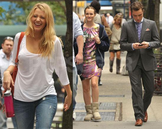 Photos of Blake, Leighton and Ed on Set