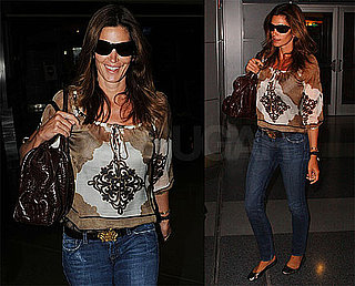 Photos of Cindy Crawford at NYC's JFK Airport