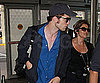 Slide Photo of Robert Pattinson at JFK Flying to Comic-Con