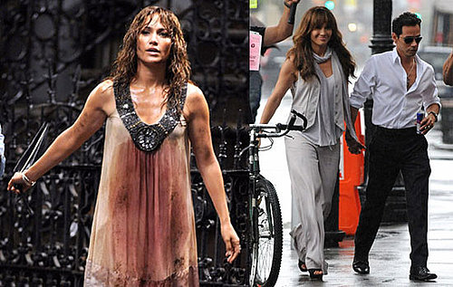 Photos of Jennifer Lopez Wet On Set of Back-Up Plan With Marc Anthony