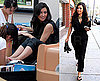Photos of Kim Kardashian Getting a Manicure and Pedicure in LA