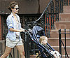 Photo Slide of Keri Russell With Son River Deary Out in Brooklyn