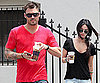 Slide Photo of Megan Fox, Brian Austin Green Grabbing Coffee in LA