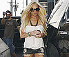Slide Photo of Blond Lindsay Lohan in Short Shorts at 7-Eleven in LA