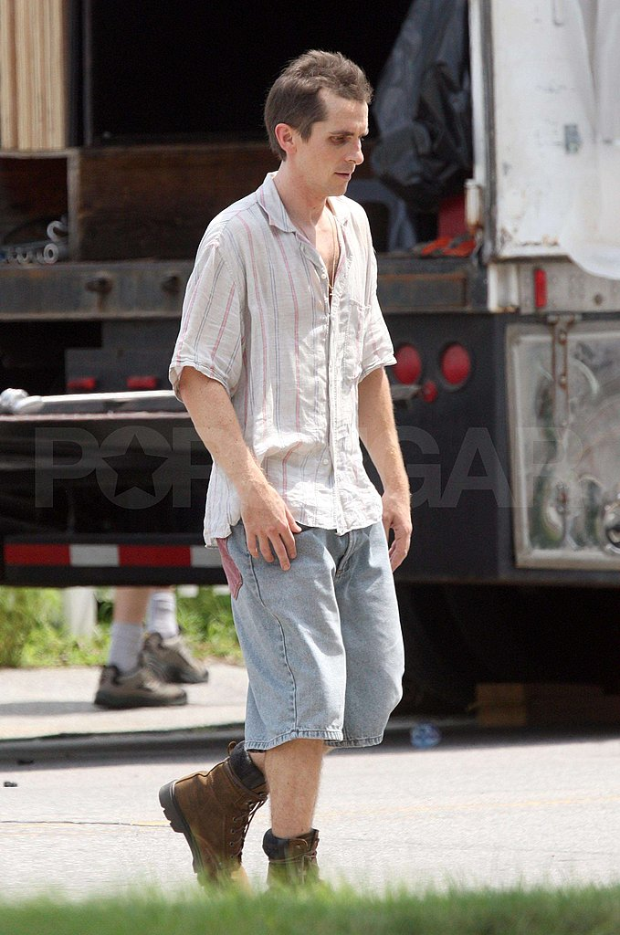 Photos of Gaunt Christian Bale on The Fighter Set