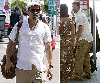Photos of Brad Pitt at the Airport in France