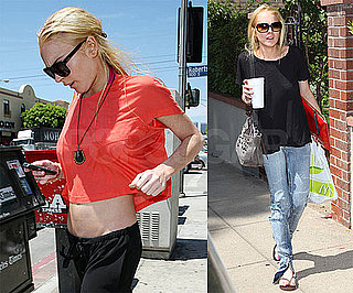 Photos of Lindsay Lohan and Ali Lohan in LA and Flying Out of LAX