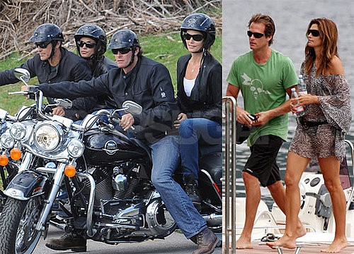 Photos of Cindy Crawford, George Clooney, Rande Gerber, Elisabetta Canalis in Italy
