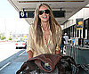 Slide Photo of Elle Macpherson at LAX Smiling