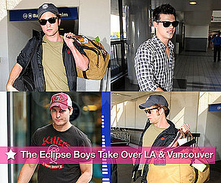 Photos of Robert Pattinson, Taylor Lautner at LAX and Peter Facinelli in Vancouver to Film Eclipse