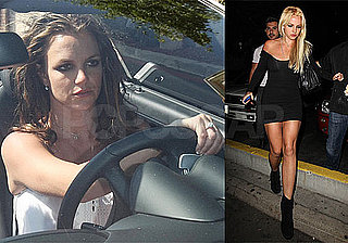 Photos of Britney Spears Clubbing After Dying Her Hair Blond Again in LA, With Brown Hair Driving