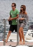 Photos of Cindy Crawford and George Clooney in Italy